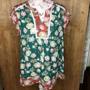 Multicolored DR2 floral blouse Large